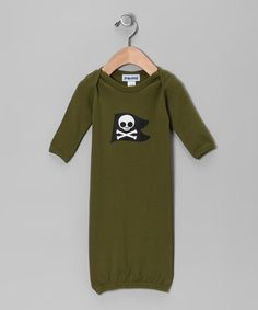 Take a look at this Olive Pirate Gown - Infant by EclectiKid on #zulily today! #fall
