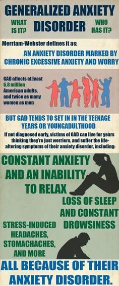 Generalized Anxiety Disorder. Educate yourself on mental illness. www.facebook.com/OffwithhisED