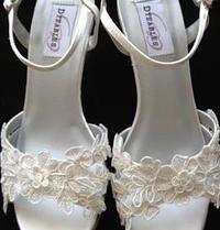CASSIE - Custom Lace 2.5 inch Wedge Heel Wedding Shoes