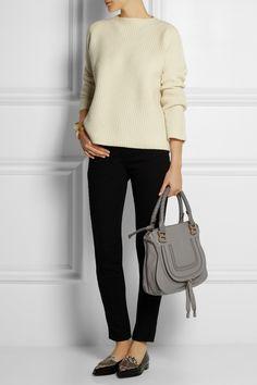 Chloé|The Marcie medium textured-leather tote|NET-A-PORTER.COM