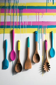 Marks & Spencer SS14 Bright Wooden Spoons, Spatulas and Pasta Servers
