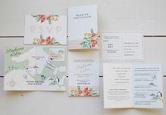 Lucy says I do bespoke wedding stationery design Australian vineyard wedding