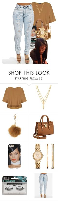 """Untitled #26"" by thaofficialtrillqueen ❤ liked on Polyvore featuring Topshop, Kenzo, Michael Kors, Ardell and Moschino"