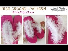 Pink Flip Flop Free Crochet Pattern - Right Handed - YouTube