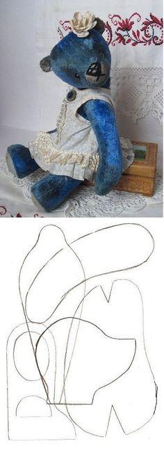 blue bear pattern