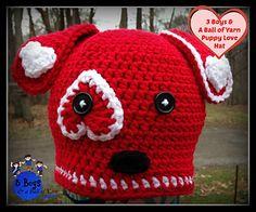 Puppy Love Crochet Pattern by: 3 Boys & A Ball of Yarn