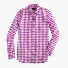 J.Crew - Boy shirt in crinkle gingham