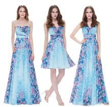 PEONY - Floral Print Blue/Pink