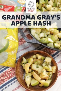 Grandma Gray's Apple Hash | Create this delicious apple hash for a flavorful and nutrition packed breakfast. | The Produce Moms #apples #breakfast Home Recipes, Apple Recipes, Whole Food Recipes, Dinner Recipes, Easy Healthy Recipes, Healthy Snacks, Easy Meals, Food Waste, Food Print