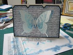 Swallowtail, stampin Up, Resist technique