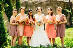 2014 Wedding Trends | Shades of Pink | Pink Bridesmaid Dresses | Chicago Salvage One Wedding