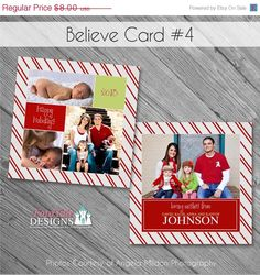 SALE Believe Christmas Card No. 4  5x5 photo by fototaledesigns, $4.80