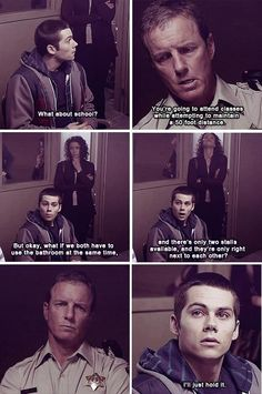 Jackson's Restraining Order being discussed by Sherrif Stilinski and Stiles; hilarious. #TeenWolf