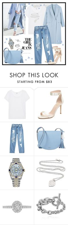 """""""The Girl In Jeans ♥♥♥"""" by marthalux ❤ liked on Polyvore featuring Oris, Splendid, Kate Spade, SJYP, Lauren Ralph Lauren, Rolex, Tiffany & Co. and EWA"""