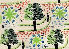 'Kew Gardens,c. 1922-3' by Edward Bawden (C254) (NEW)