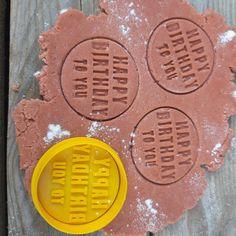 Happy Birthday Embosser Stamp happy birthday cookie cutter | Etsy Number Cookie Cutters, Custom Cookie Cutters, Cookie Cutter Set, Custom Cookies, Happy Birthday Cookie, Birthday Cookies, Price Of Stamps, Personalized Cookies, Logo Cookies