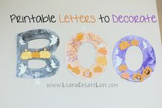 BOO Printable Letters