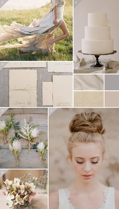 Soft & natural wedding inspiration board in neutral tones | Best Day Ever