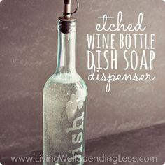 This is a guest post by KC Coake @The Real Thing with the Coake Family Hi everyone, I'm KC and today I've got a cute project to show you. It is a wine bottle craft that is easy and can add a bit of pizazz to your kitchen sink or other area. You won't believe …