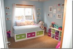 Bright Organized Kids Play Room | Remodelaholic