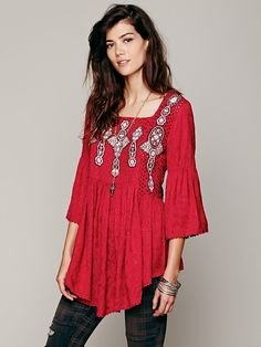 Free People Embroidered In Jacquard Top, $49.95