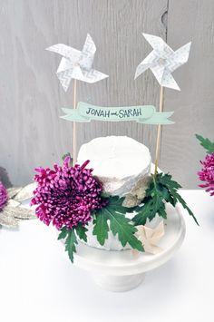 printable Pinwheel Cake Topper | Smitten On Paper