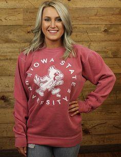 Show your Iowa State spirit in this fleece pullover sweatshirt GO CYCLONES