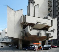Romanian Architect Nicolae Porumbescu was a great fan of Brutalism and developed a stunning local interpretation of it with this large scale complex: Nicolae Porumbescu: City Center, Satu Mare,...
