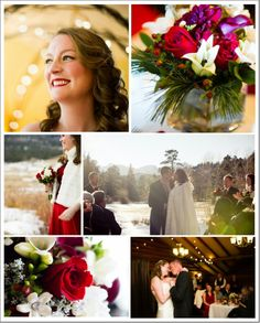 Winter Rustic Wedding I like the greenery in the bouquet.