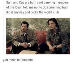 But castiel always gets forgiven but dean takes any chance he gets to rub Sams mistakes in his face!
