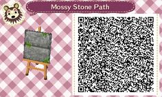 Mossy stone path QR code.