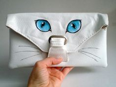 Cat Eye Clutch Hand Painted Bag purse