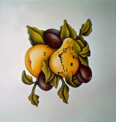 reloj frutas