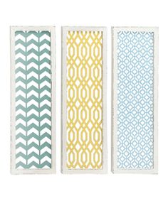 Take a look at the Green & Blue Rectangle Wall Art on #zulily today!