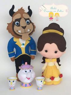 Bella y bestia - Für pin Crafts To Do, Felt Crafts, Crafts For Kids, Disney Diy, Disney Crafts, Disney Cruise, Beauty And The Beast Party, Felt Baby, Felt Decorations