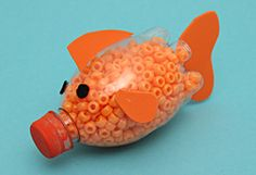 Recycle those empty water/soda bottles and make this cool Fish Shaker Instrument