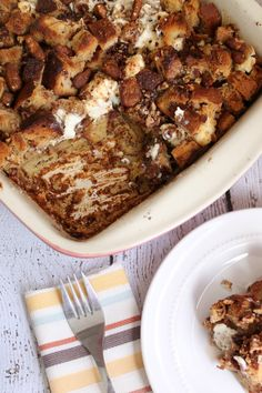 Easy Cream Cheese Cinnamon Raisin Baked French Toast by Penney Lane Kitchen