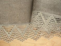 Linen Tablecloth Vintage Tablecloth Burlap Checked by Initasworks