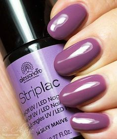 Oh-so 'Silky' Mauve in Striplac Gel! Ready for a new color? Simply peel to…