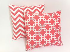 Coral Decorative Pillow cover 20x20 by Pillomatic, $18.00