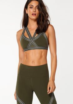 49d7ebb4c4793 Stay on point in this luxe sports bra, crafted from premium Aloe Vera  infused fabric