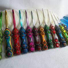 Crochet Hook Susan bates Boye crochet hooks yarn by TooShayCrochet Macrame Patterns, Sewing Patterns, Crochet Patterns, Diy Crochet Hook Handle, Boye Crochet Hooks, Etsy Seller, Knitting, Vintage, Unique Jewelry