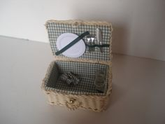 Miniature picnic basket reserved listing for Jennifer by cinen