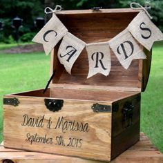 Rustic Wooden Wedding Card Holder - Rustic Wedding