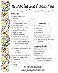 thirty one ideas | How will you use your Thermal Tote?!