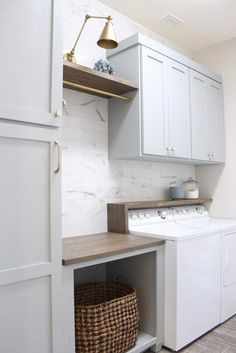 """Learn additional information on """"laundry room storage diy shelves"""". Browse through our internet site. Learn additional information on """"laundry room storage diy shelves"""". Browse through our internet site. Grey Laundry Rooms, Mudroom Laundry Room, Laundry Room Shelves, Laundry Room Remodel, Laundry Room Cabinets, Laundry Decor, Farmhouse Laundry Room, Laundry Room Organization, Laundry Room Design"""