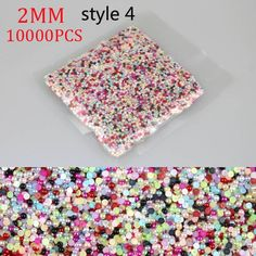 10000pcs 1.5mm 2mm 2.5mm 3mm Mixed Colors Half Pearls Beads Flatback Round Bead For Nail Decoration Nail Art Beauty Accessories