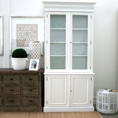 Claude French Provincial Display Cabinet - White