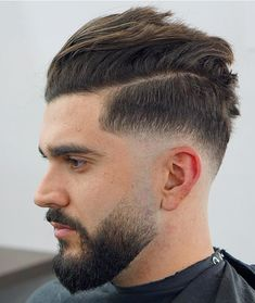 Drop Fade Haircut for an Ultimate Stylish Look. Drop fade haircuts for men are going to be a big hit in the summer season this year. Latest Haircut For Men, Latest Haircuts, Cool Mens Haircuts, Men's Haircuts, Faded Beard Styles, Beard Styles For Men, Drop Fade Haircut, High Skin Fade, Beard Fade
