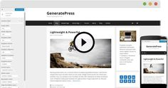GeneratePress is a fast, lightweight WordPress theme. With the modular structure of the add-ons, you can add the features you need when you need them. Modular Structure, Wordpress Theme, Free